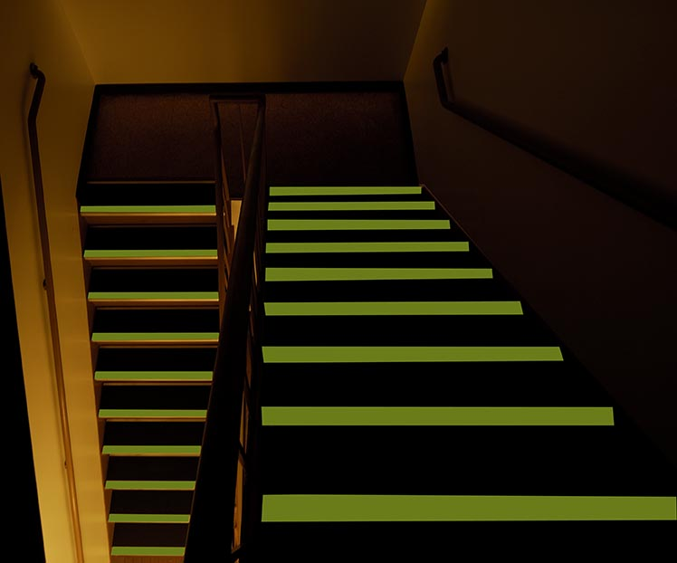 Glow in the Dark Stair Treads and Nosing from Floor Safety Specialists